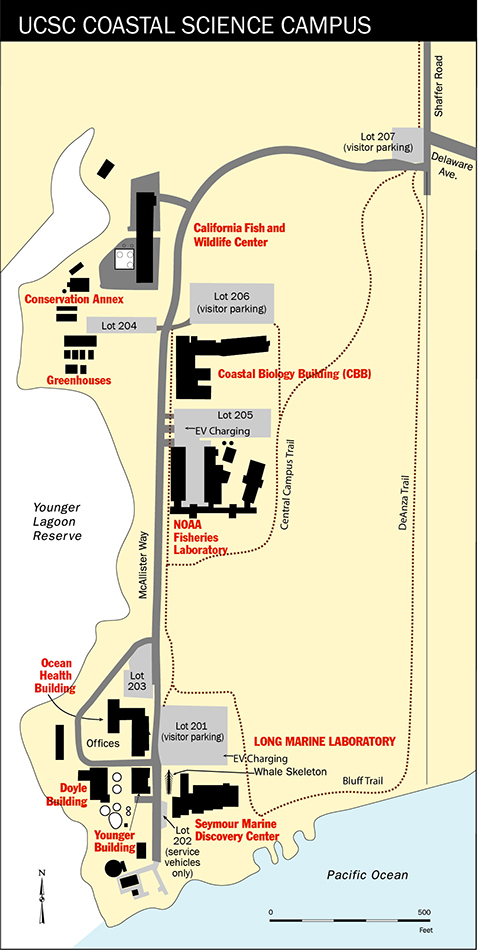 Coastal Science Campus Parking Map